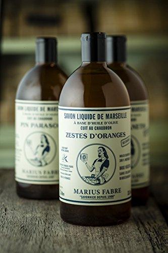 """Flüssigseife mit ätherischen Ölen, Marius Fabre \""""Nature\"""", Nachfüllflasche 1000 ml, Pinie"""
