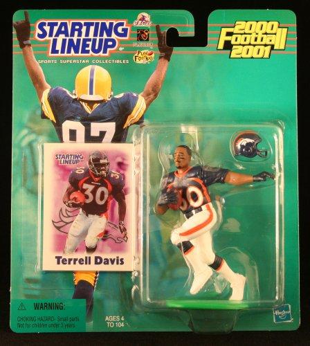 TERRELL DAVIS / DENVER BRONCOS 2000-2001 NFL Starting Lineup Action Figure & Exclusive NFL Collector Trading Card