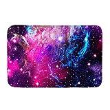 Biyejit Felpudo de franela con diseño de estrellas galaxias,...