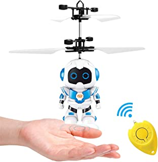 SubClap Flying Ball Toy,Hand-Controlled Drone Boy RC Flying Toys with LED Light Induction Remote Control for Kids Boys Bir...