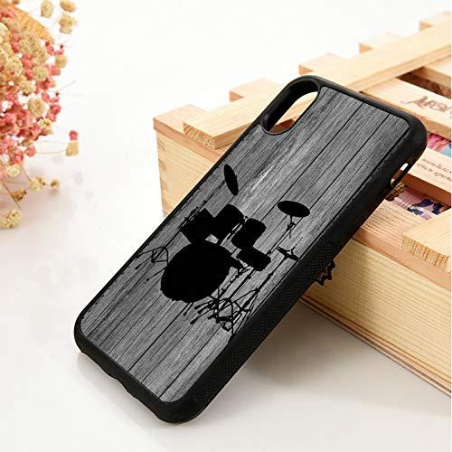 KKAAVV per 5 5S SE 6 6SCover per Telefono inSilicone Morbido TPUper iPhone 7 8 Plus X XS 11 PRO Max XR Batteria impostata su Legno, per iPhone XS