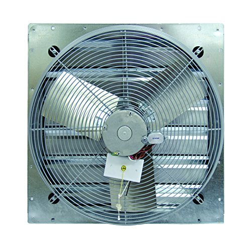 TPI Corporation CE12-DS Direct Drive Exhaust Fan, Shutter Mounted, Single Phase, 12' Diameter, 120 Volt
