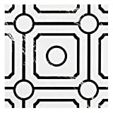 Achim Home Furnishings Retro 12x12 Self Adhesive Vinyl Floor Tile - Black & White Carrera - 20 Tiles/20 sq. ft. (RTFTV60920)