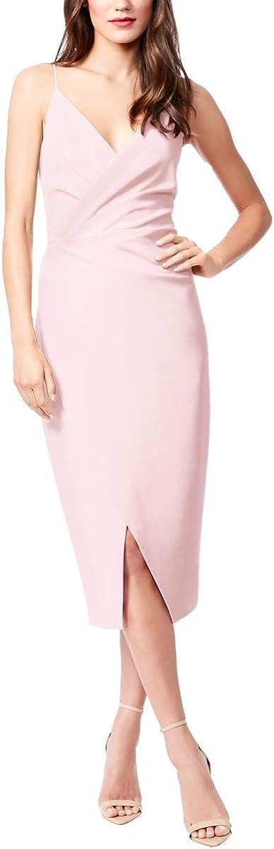 Betsey Johnson Women's Scuba Crepe V Neck Dress
