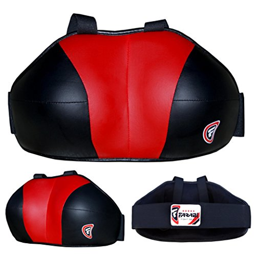 FARABI Ladies Chest Guard Chest Protector Breast Protection Boxing MMA Muay Thai Martial Art Protective Gear Chest Guard (Red Black, L/XL)
