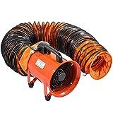 Conducto Flexible de PVC Ventilador 7,6 m Diámetro de 25,50 cm Manguera de Conducto Flexible de PVC Conducto de Ventilación Tubo de Manguera de Ventilación Conductos de Aire de PVC Ignífugo