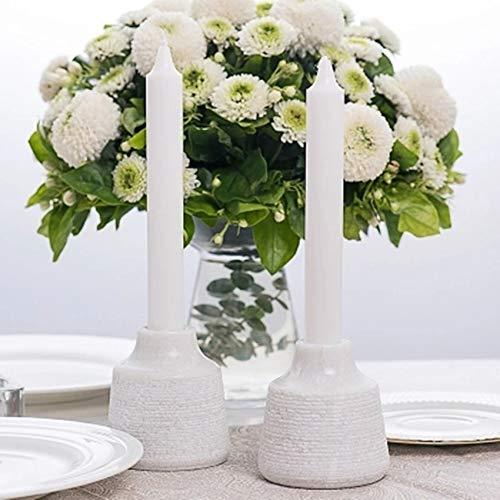 Infiniment Grand Centre de décoration de Maison Style européen Romantique Naturel Flocon de Neige en marbre Bougeoir pour Bougie Décoration de Table de Mariage avec Support