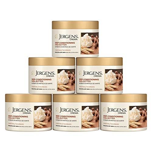 Jergens Crema Deep-Conditioning Shea Butter Body Cream with Oatmeal, 8 Ounces (Pack of 6)