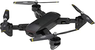 BINDEN Drone Plegable DM107s Selfie con Doble Cámara HD, Tr