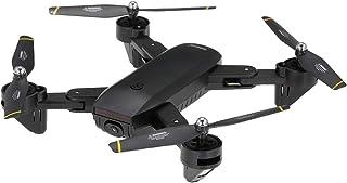 BINDEN Drone Plegable DM107s Selfie con Doble Cámara HD, Tr