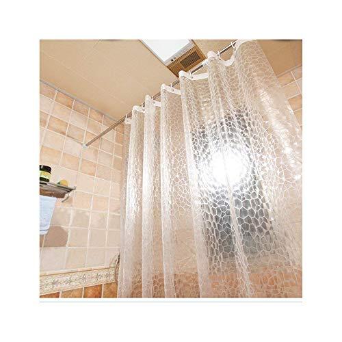 RETYLY Klare Eva Duschvorhang Innenfolie Best?ndig gegen Mehltau, 3D Wasserwürfel Duschvorhang 180x180cm