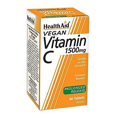 HealthAid Vitamin C 1500mg - Prolong Release - 60 Vegan Tablets