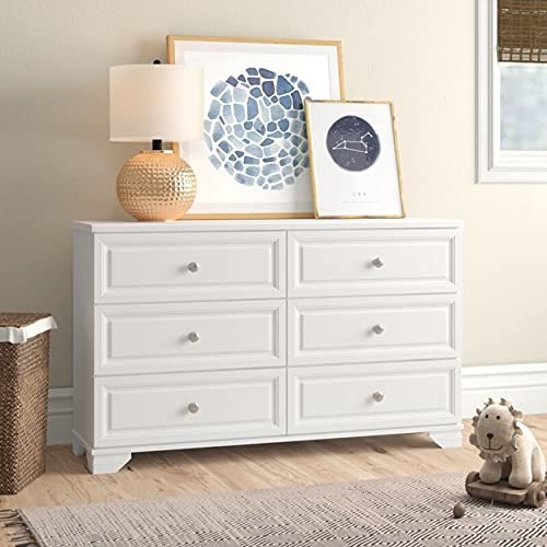 Belle Isle Furniture Kids Dresser, 6 Drawers - Bedroom Storage and Nursery Organization - Double Chest of Drawers for Toddlers and Children - Clothes, Toys, Shoes and More - Rustic Design