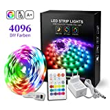 BASON RGB LED Strip, 5m Led Streifen mit 4096 Farben-DIY Flexible LED Leiste, SMD 5050 LED Stripes,...