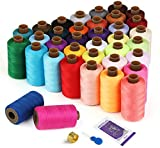 Sewing Thread Kit - Total 21600 Yard Sewing Thread, 36 Colors Polyester Spool Threads for DIY Hand Sewing/Machine Sewing