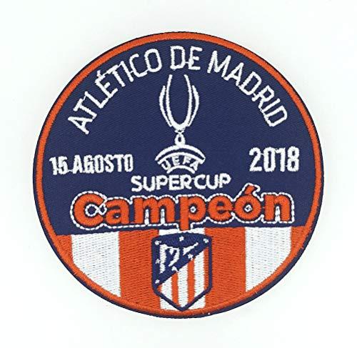 Gemelolandia Parche Termoadhesivo Atlético de Madrid Super Copa de Europa League 2018 9cm