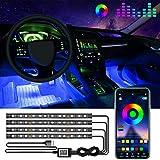 Car Led Lights Interior, 4 PCS 48 LED Waterproof...