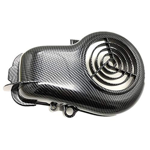 Anhuidsb Fibra de la motocicleta Vespa imitan de carbono cubierta del ventilador for YAMAHA JOG ZR 3YK 3KJ VINO 5AU 4JP Aprio anhuidsb