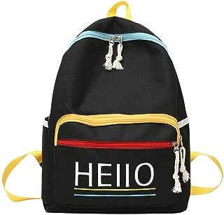 chinatera School Bookbag for Girls, Fashion Leisure Backpack for Girls Teenage School Backpack Women Letter Print Backpack Purse