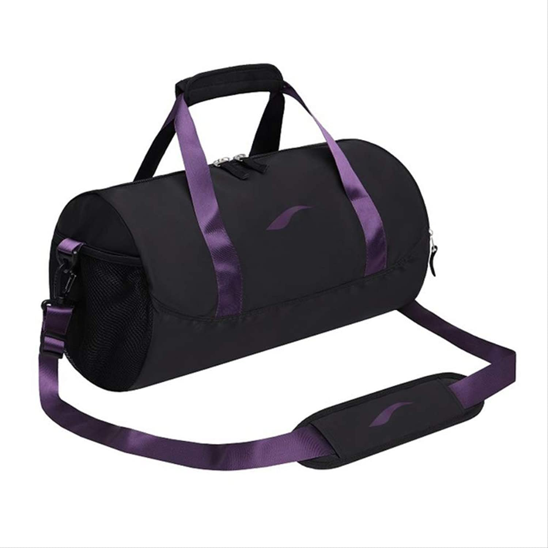 Gen Te Sporttasche Professional Mnner Sport Sporttaschen Frauen Freizeit Yoga Fitness Tasche Multifunktions Reisegepck Taschen Training Seesack SportSchwarz Lila