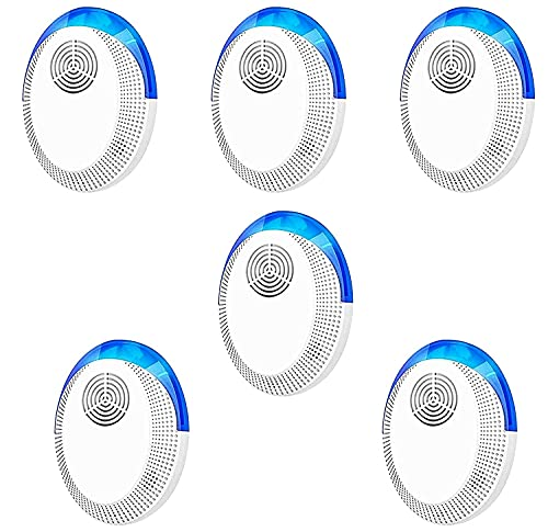TOMETCo Ultrasonic Pest Repeller 6 Pack, 2021 Pest Repellent, Pest Control Set of Electronic Plug in Indoor for Pests