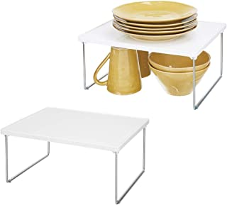 mDesign étagère de Cuisine (Lot de 2) – égouttoir Pratique en métal et Plastique pour Plus d'Espace de Rangement – étagère...