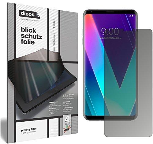dipos I Blickschutzfolie matt kompatibel mit LG V30S ThinQ Sichtschutz-Folie Bildschirm-Schutzfolie Privacy-Filter