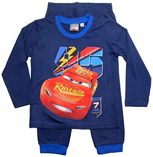 Cars Disney 3 Schlafanzug Jungen Lang Lightning McQueen (92-98, Rot-Blau)