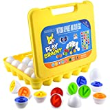 Play Brainy Montessori Alphabet Matching Eggs, 26 Pc. ABC Letter Set, Educational Early Learning Toys and Shape Recognition Sorter Puzzle for Toddlers and Preschool Students