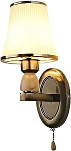 Lámpara de pared de hierro forjado sala de estar dormitorio retro escalera lámpara de pared lámpara de noche pasillo lámpara para colgar en la pared lámpara led sin fuente de luz 41 * 17 CM