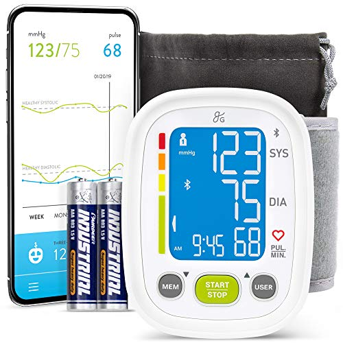 Greater Goods Smart Bluetooth Wrist Blood Pressure Monitor, Wrist Cuff with Large Digital Display, Premium Cuff, Set Comes with Device Bag
