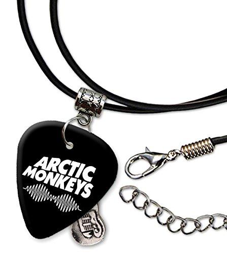 Arctic Monkeys Band Logo Collar de cordón de púa de guitarra (H)