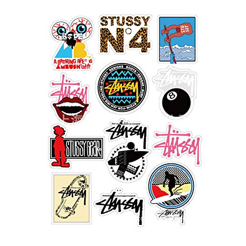 LLTZD 2 Sheets/Lot Koelkast Skateboard Trolley Case Rugzak Sticker Cartoon Graffiti Waterdichte Diy Stickers Drop Verzending