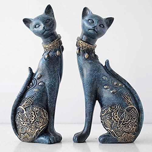 Beeldje Decoratieve Hars Kat Standbeeld Voor Huisdecoratie Europese Creatieve Huwelijkscadeau Dier Beeldje Woondecoratie…