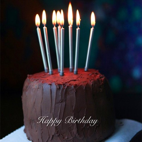 Astra Gourmet 12 Count Long Metallic Birthday Candles in Holders for Birthday Cakes Decorations, Silver