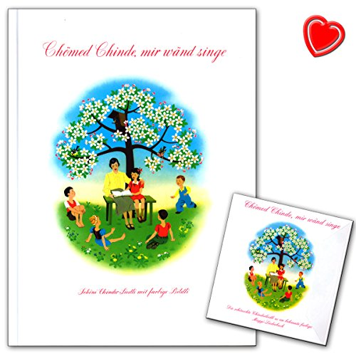 Chömed Chinde mir wand zag - beroemde Zwitserse kinderliedjes-fotoboek met de magische illustraties - met kleurrijke hartvormige muziekklem - GH10121 9783905847161
