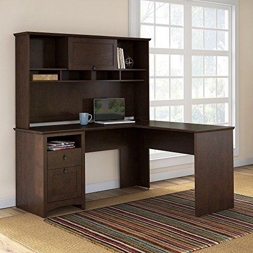 Buena Vista L Shaped Desk with Hutch in Madison Ch...