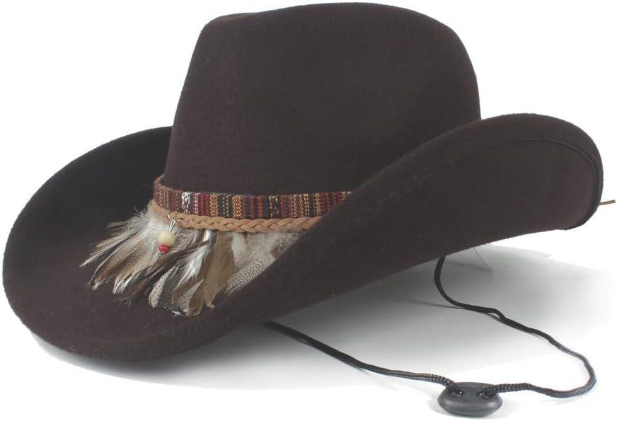 HHHCM-US Wool Hollow Western Cowboy 5 ☆ popular Hat Roll Up Dealing full price reduction Lady Bri Elegant