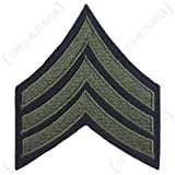 world war 2 patches - Reproduction World War 2 US Army Olive Rank Patch (Sergeant)