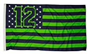 Our 3x5ft Durable Polyester Flag has header tape and 2 metal grommets Great Quality:100% durable polyester. Around with stitching process Vivid Printed:The color of each flag is vivid and standard. You will immediately love this printing process DFLI...