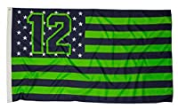Large 3 Foot by 5 Foot, Indoor-Outdoor Flag 100% polyester fabric with double row stitched seams and bright vivid colors Wide heavy duty no-shrink canvas header to give your flag extra appeal and help securely hold against rope line of flag pole Stro...