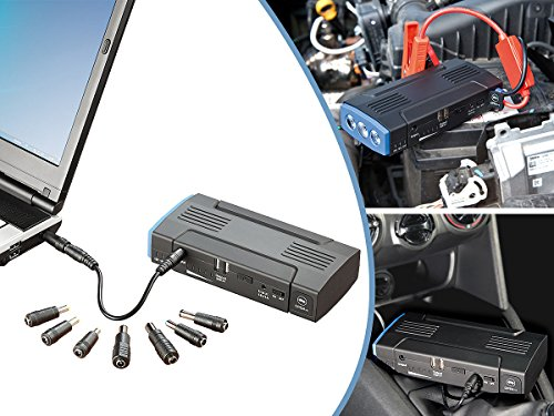reVolt Starthilfe Auto: Notebook-Powerbank mit Kfz-Starthilfe & 2X USB, 12.000 mAh / 400 A (Powerbank Zigarettenanzünder)