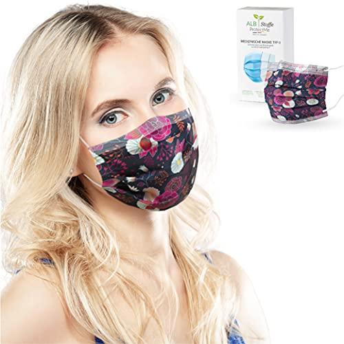 ALB Stoffe® ProtectMe - OP Masken GARDEN, 100% Made in Germany, zertifizierte medizinische Mund-Nasen-Masken bedruckt, 20er Pack