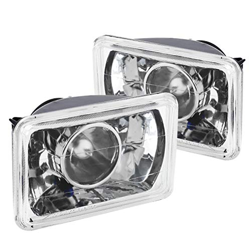 Spec-D Tuning Universal 4X6 Chrome Projector Headlights Head Light Assembly Left + Right Pair