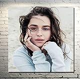 yuyu-beautiful Emilia Clarke In Style Retro Poster Und