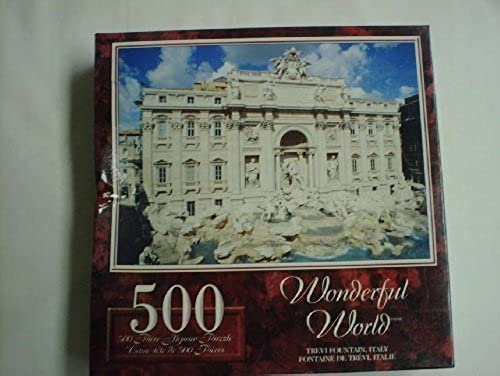 Wonderful World 500 Piece Puzzle-Trevi Fountain,  by Sure-Lox by Sure-Lox