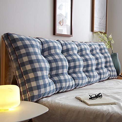 Kopfbrett Doppel Bedside Dreieck Kissen / Kissen Sofa Rückenlehne Soft Case Schlafzimmer Große Rückenkissen schützen die Taille Abnehmbare, 7 Farben, 8 Größen (Farbe: 6, Größe: 150 × 20 × 50 cm), Größ