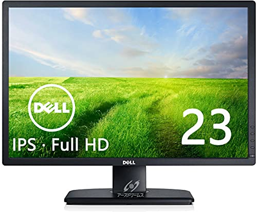 Dell ディスプレイ モニター U2312HM 23インチ/フルHD/1920x1080/IPS非光沢/8ms/VGA,DVI,DP/USBハブ/画面回転 高さ調整 (整備済み品)