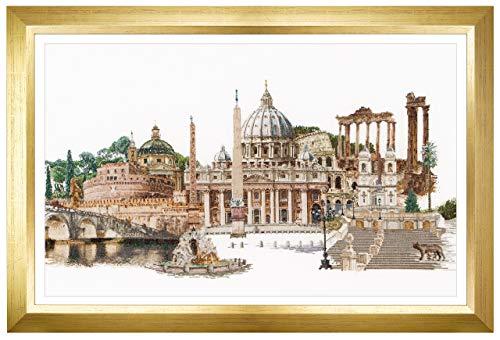 Thea Gouverneur - Kit de Punto de Cruz Contado - 499A - Hilos DMC Preseleccionados - Roma Italia - Aida - 79cm x 50cm - Kit de Bricolaje