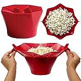 bingx Forno a microonde del Silicone Popcorn Ciotola Cucina...